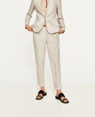 pantalon lin Zara