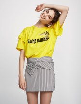 jupe rayures Pull And Bear