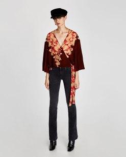 top velours Zara
