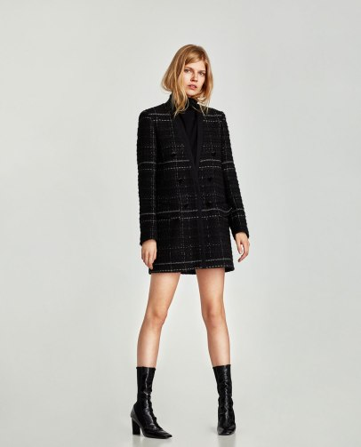 veste en tweed Zara