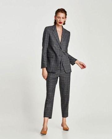 veste à carreaux Zara