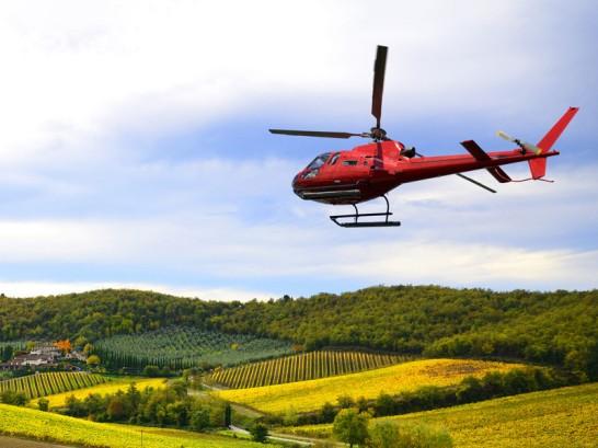 voyage en hélicoptère
