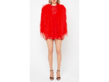 manteau plumes Alice McCall