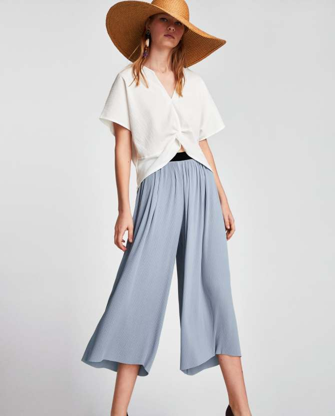 wide leg pants Zara