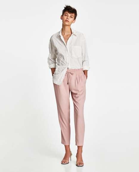pantalon carotte Zara