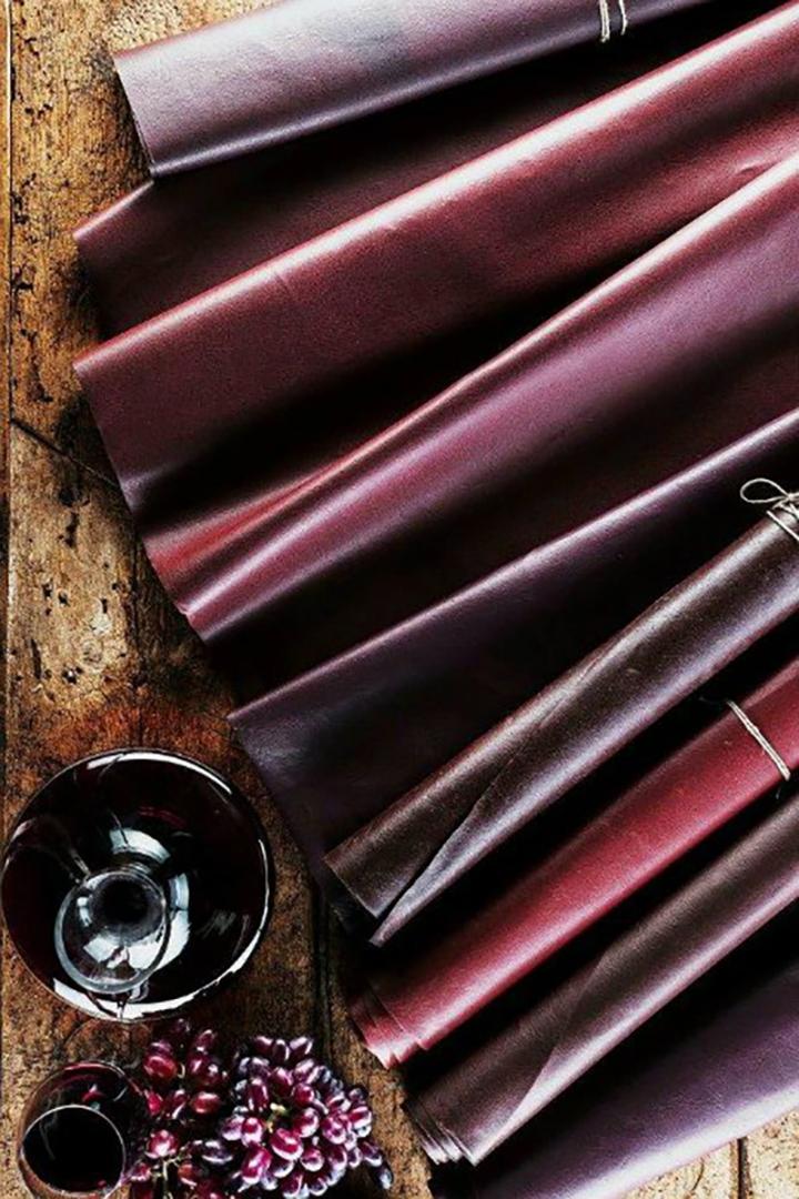 Le cuir raisin