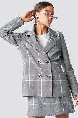 Ensemble jupe-short et blazer oversize